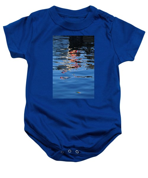 Reflections In Red Baby Onesie