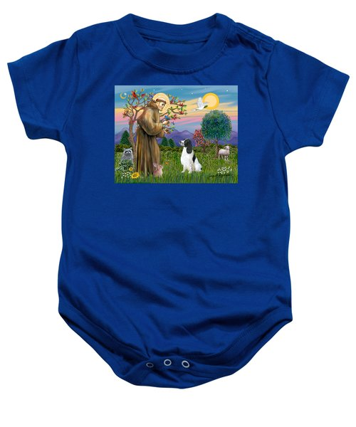 Saint Francis Blesses An English Springer Spaniel Baby Onesie