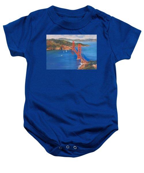 San Francisco Bay Bridge Baby Onesie