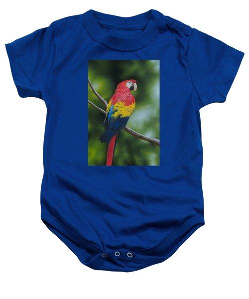 Scarlet Macaw Baby Onesie