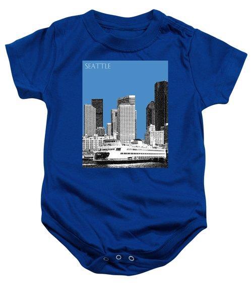 Seattle Skyline - Slate Baby Onesie