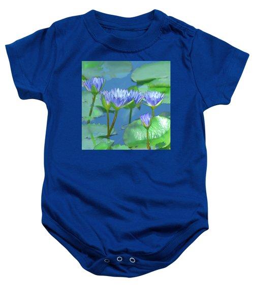 Silken Lilies Baby Onesie