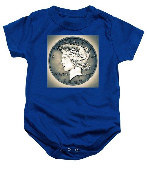1922 Silver Proof Peace Dollar Baby Onesie