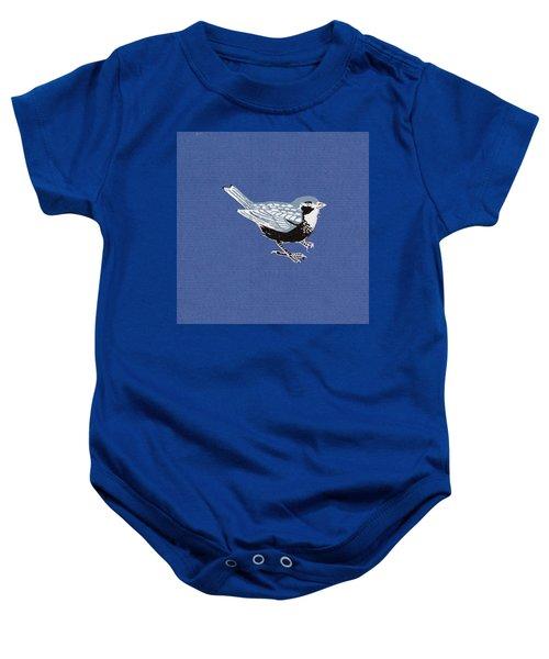 Sparrow, 2013 Woodcut Baby Onesie