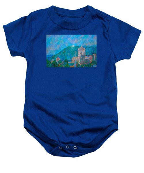 Baby Onesie featuring the painting Star City by Kendall Kessler