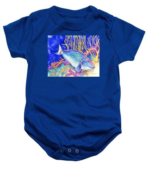 Stoplight Parrotfish Baby Onesie