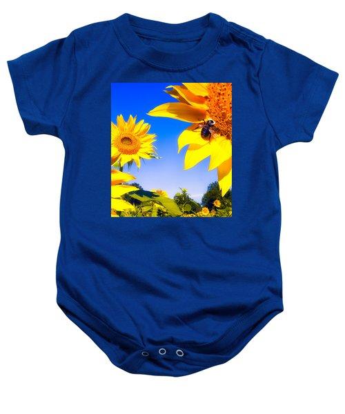 Summertime Sunflowers Baby Onesie