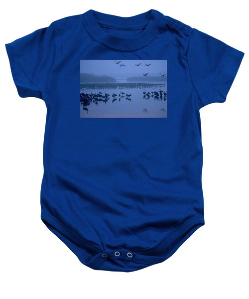 Sunrise Over The Hula Valley Israel 4 Baby Onesie