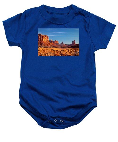 Sunrise Over Monument Valley Baby Onesie