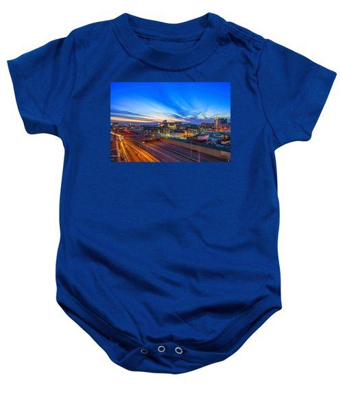 Sunset In Detroit Baby Onesie