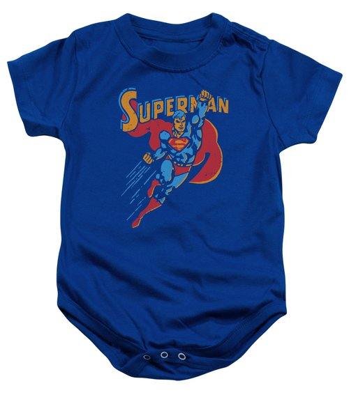 Superman - Life Like Action Baby Onesie
