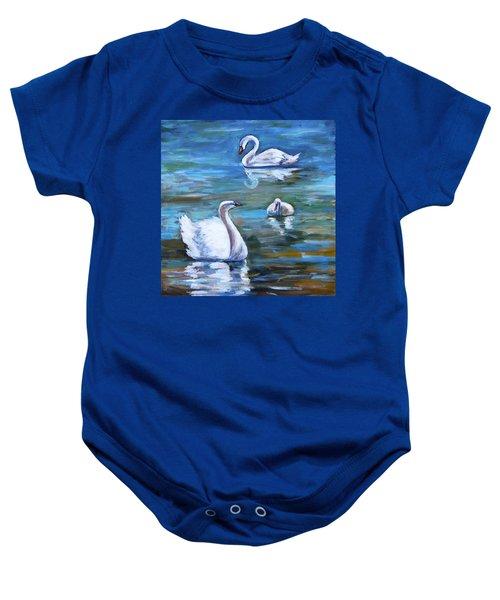 Swans Baby Onesie