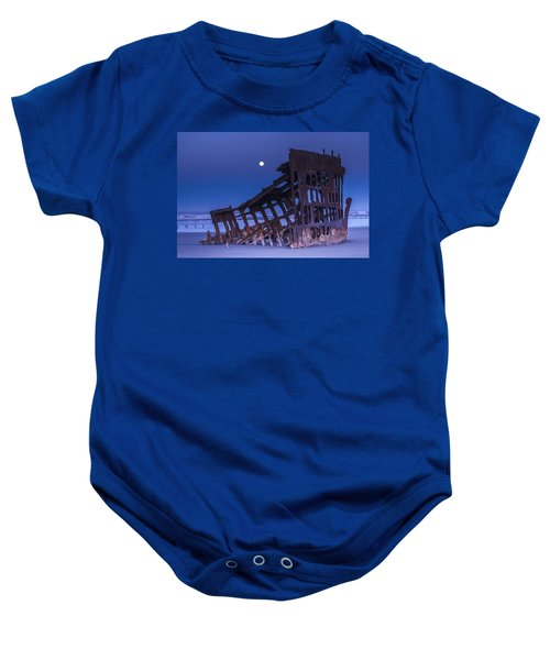 The Moon Sets Over The Wreck Baby Onesie