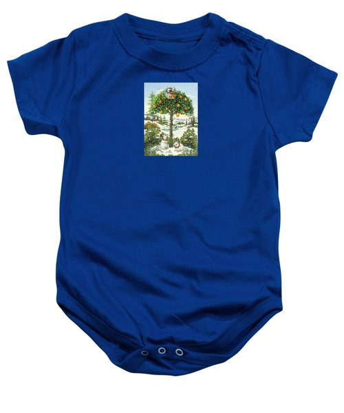 The Partridge In A Pear Tree Baby Onesie