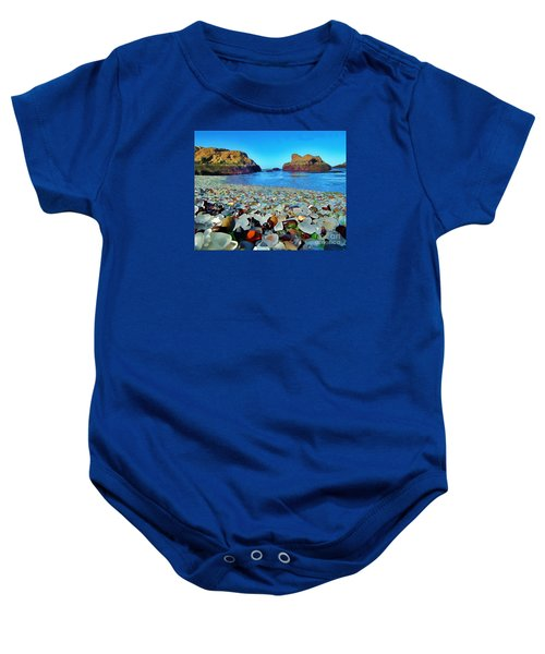 Glass Beach In Cali Baby Onesie