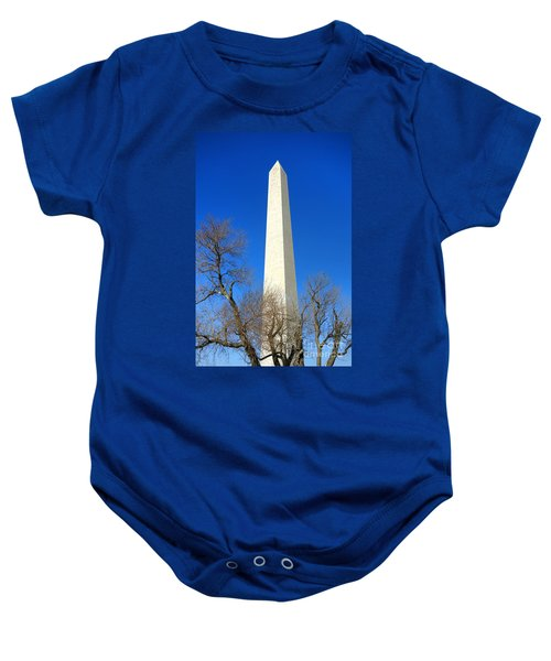 The Washington Monument And The Big Old Tree On The National Mall Baby Onesie