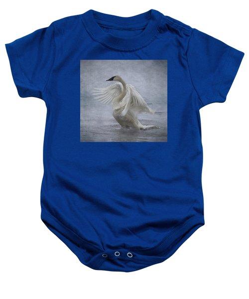 Trumpeter Swan - Misty Display Baby Onesie