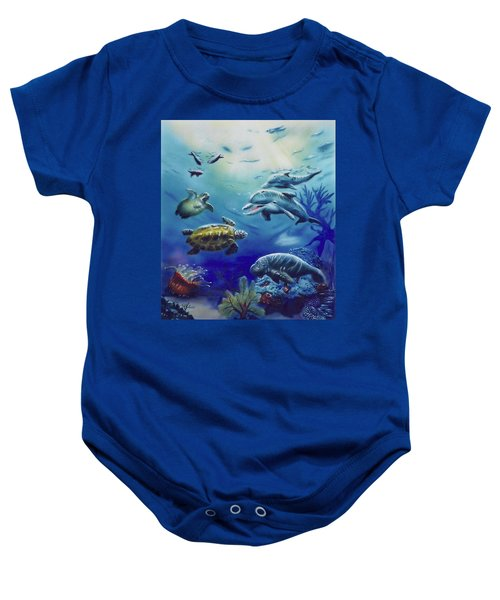 Under Water Antics Baby Onesie