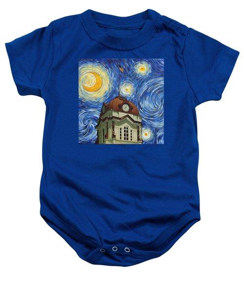 Van Gogh Courthouse Baby Onesie