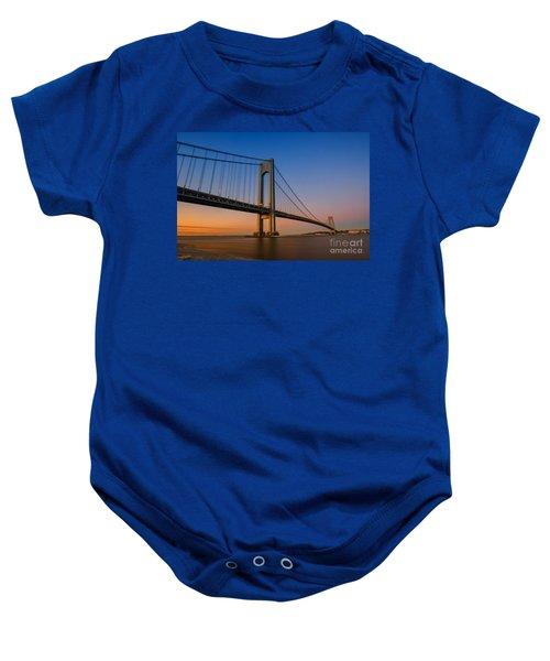 Verrazano Bridge Sunrise  Baby Onesie