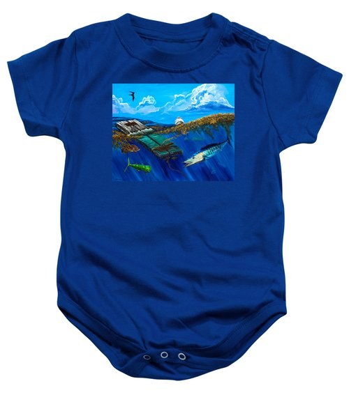Wahoo Under Board Baby Onesie