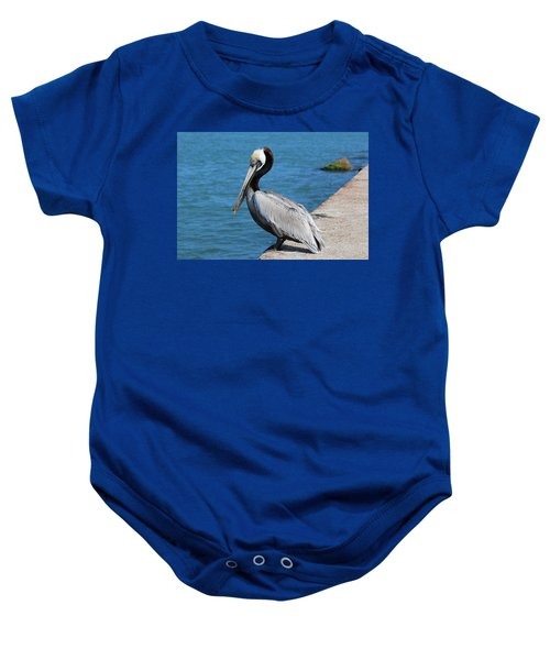Waiting For A Fish  Baby Onesie