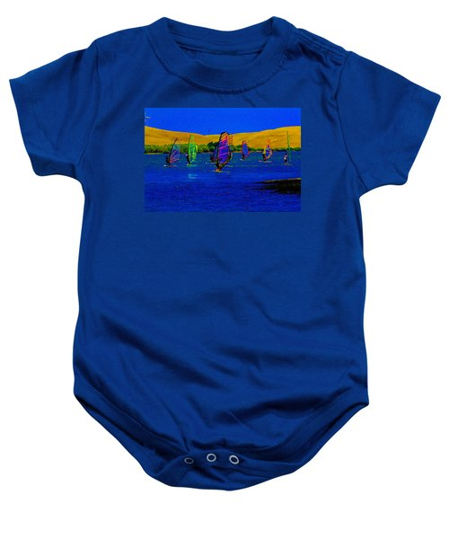 Wind Surf Lessons Baby Onesie