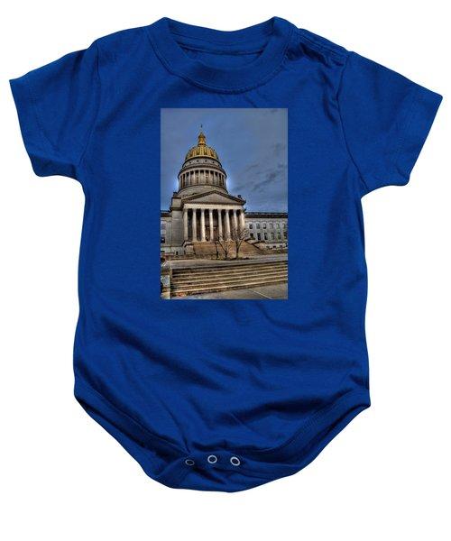 Wv Capital Building 2 Baby Onesie by Jonny D