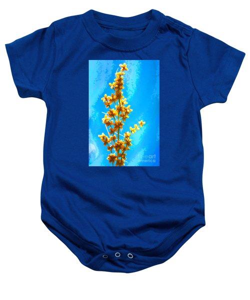 Yellow Plant Baby Onesie
