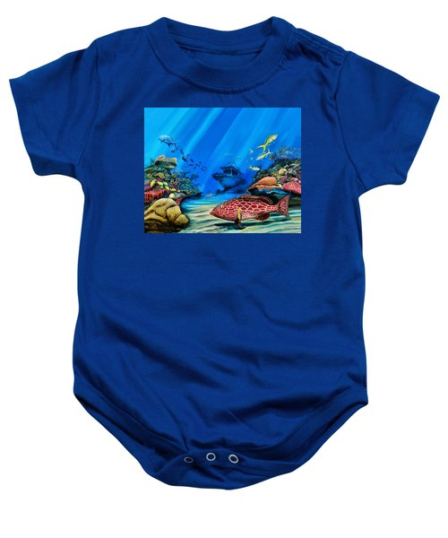 Yellowfin Grouper Wreck Baby Onesie