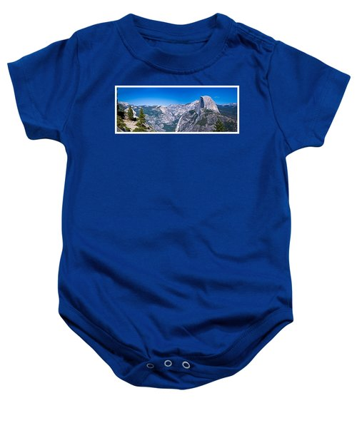 Yosemite Valley From Glacier Point Baby Onesie