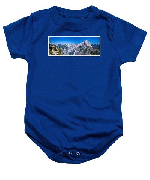 Yosemite Valley From Glacier Point Baby Onesie