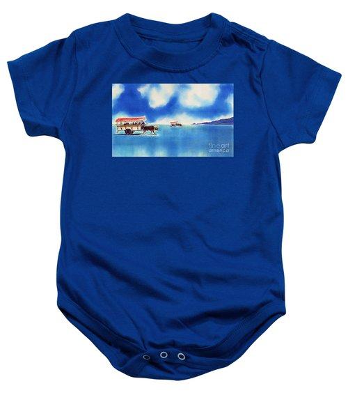 Yubu Island-water Buffalo Taxi  Baby Onesie