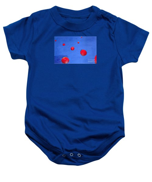 Orbs In Space 1 -- Crossing Paths Baby Onesie by Rod Ismay