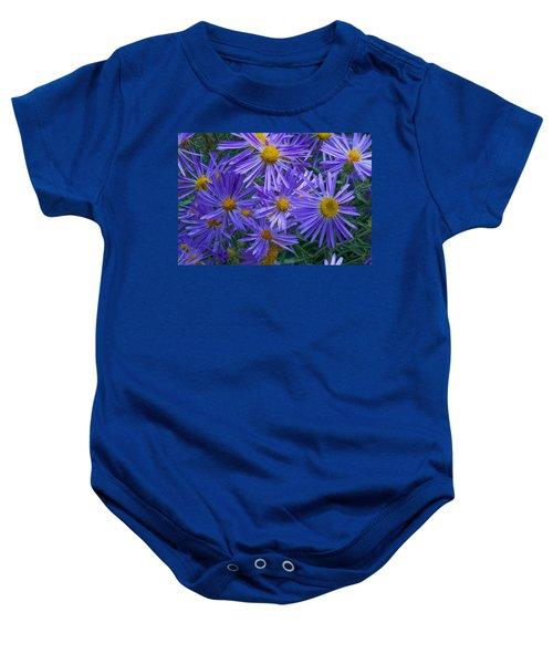 Blue Asters Baby Onesie