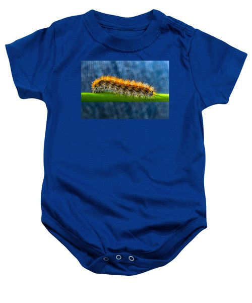 Butterfly Caterpillar Larva On The Stem Baby Onesie