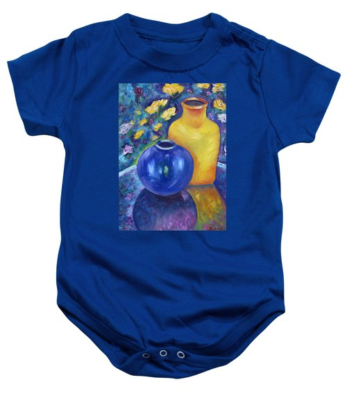 Colorful Jars Baby Onesie