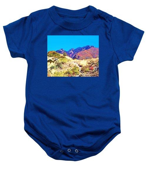 Rocky Mountains In Autumn Baby Onesie