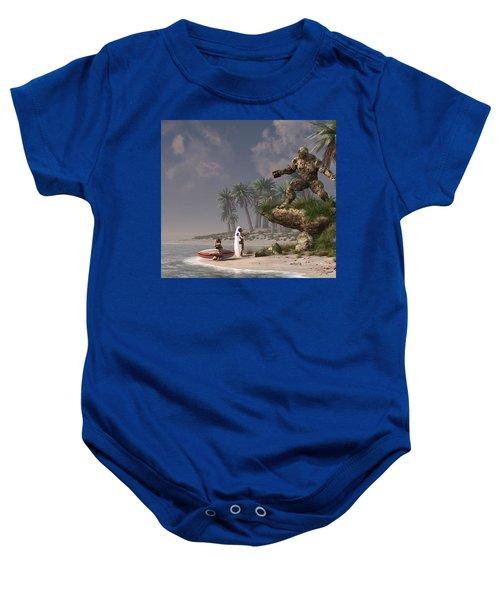 The Surf God   Baby Onesie