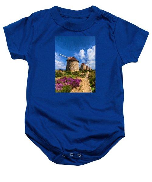 Windmills Of Portugal Baby Onesie