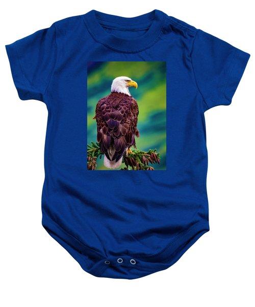 Alaska Bald Eagle Baby Onesie