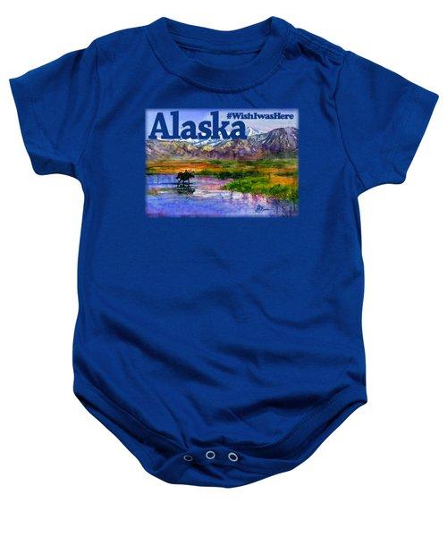 Alaskan Landscape Stream Shirt Baby Onesie