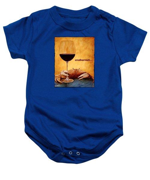 Crabernet... Baby Onesie by Will Bullas
