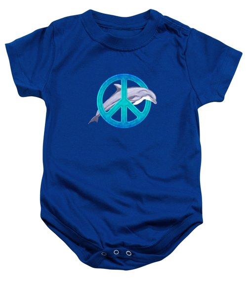 Dolphin Peace Baby Onesie