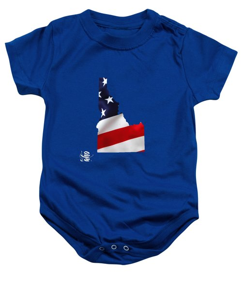 Idaho State Map Collection Baby Onesie by Marvin Blaine