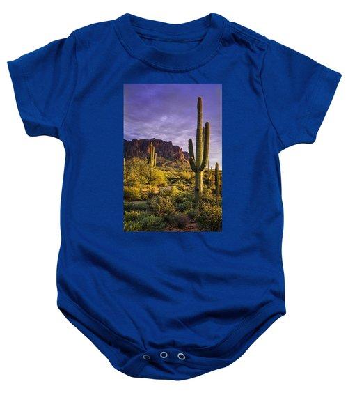 In The Desert Golden Hour  Baby Onesie
