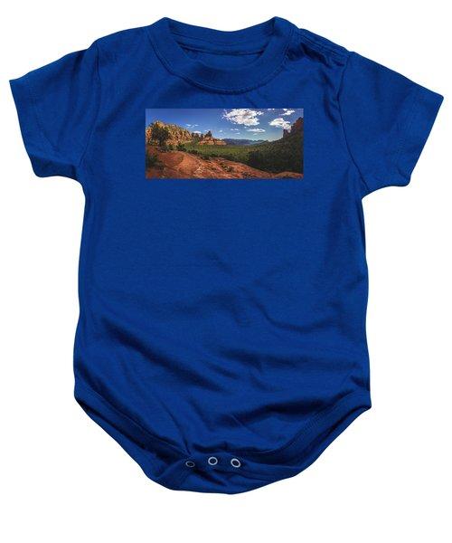 Mormon Canyon Panorama Baby Onesie
