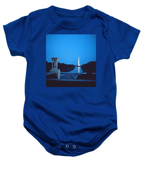 Night View Of The Washington Monument Across The National Mall Baby Onesie
