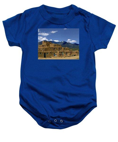 North Pueblo Taos Baby Onesie