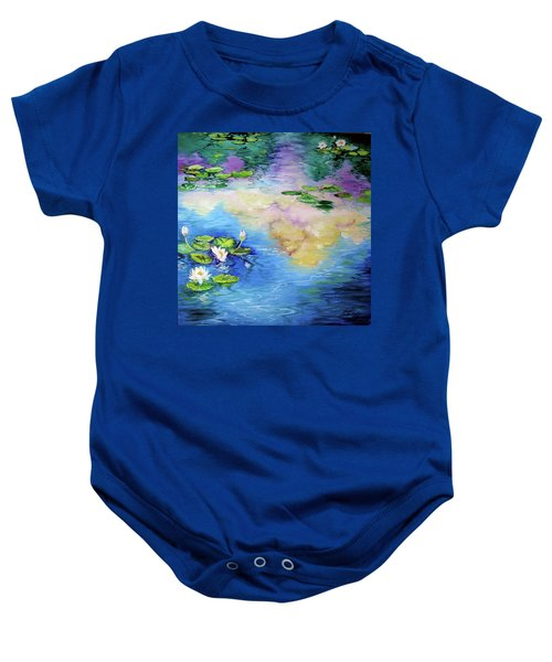 Reflections On A Waterlily Pond Baby Onesie